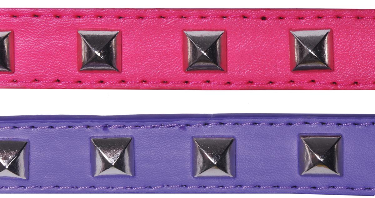 Ошейник для собак GLG, цвет: розовый, фиолетовый, 1,9 х 36 смAMG0835-36