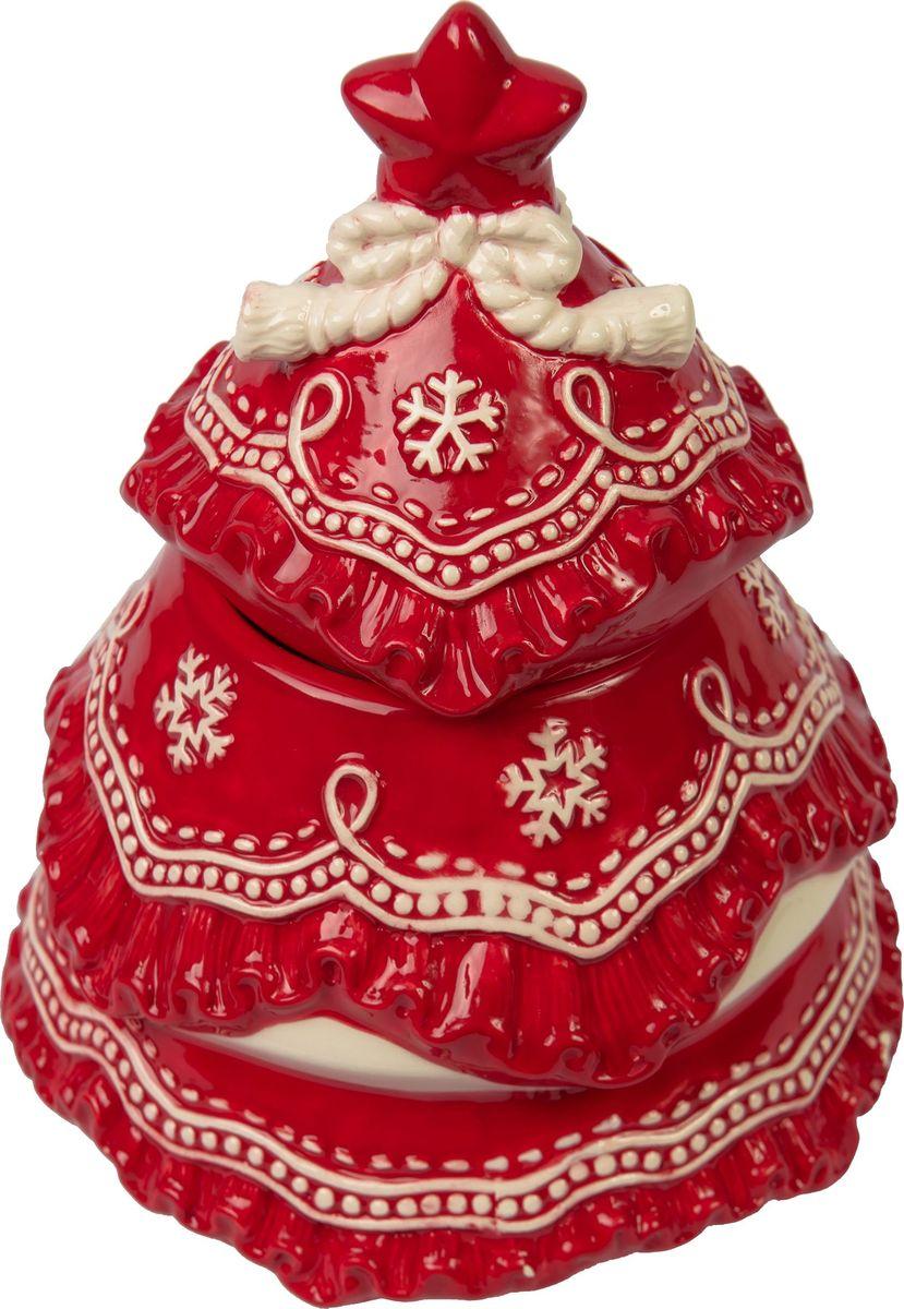 Банка для печенья Magic Time Сказочная елочка, 15 x 15 x 19,5 см75888Банка для печенья Сказочная елочка от Magic Time - это новогоднее украшение для стола, которое приносит ощущение праздника и волшебства в дом, создает атмосферу радости и веселья. Банка изготовлена из высококачественной керамики и прекрасно подходит для хранения и сервировки. Такая посуда станет отличным подарком для ваших друзей и близких.