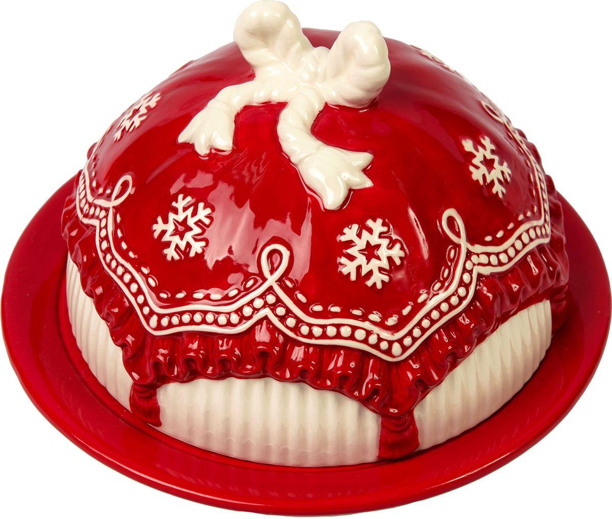 Хлебница Magic Time Уют, 19 x 19 x 11,5 см75890Хлебница УЮТ от Magic Time - это новогоднее украшение для стола, которое приносит ощущение праздника и волшебства в дом, создает атмосферу радости и веселья. Хлебница изготовлена из высококачественной керамики и прекрасно подходит для хранения и сервировки. Такая посуда станет отличным подарком для ваших друзей и близких.