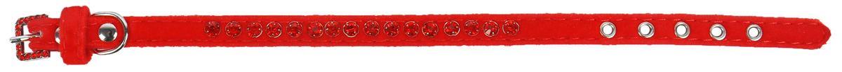 Ошейник для животных GLG, 1 х 28 см. AM801-28-RAM801-28-RОшейник GLG изготовлен из замши. Клеевой слой, сверхпрочные нити, крепкие металлические элементы делают ошейник надежным и долговечным. Изделие отличается высоким качеством, удобством и универсальностью.Размер ошейника регулируется при помощи металлической пряжки. Имеется металлическое кольцо для крепления поводка. Ваша собака тоже хочет выглядеть стильно! Модный ошейник, декорированный стразами, станет для питомца отличным украшением и выделит его среди остальных животных. Обхват шеи: 28 см. Ширина: 1 см.