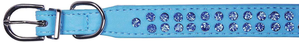 Ошейник для собак GLG, цвет: голубой, 2 х 32 см. Размер MAMG0819-32-B