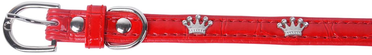 Ошейник для собак GLG, цвет: красный, черный, 1,3 х 30 смAMC102-1-30
