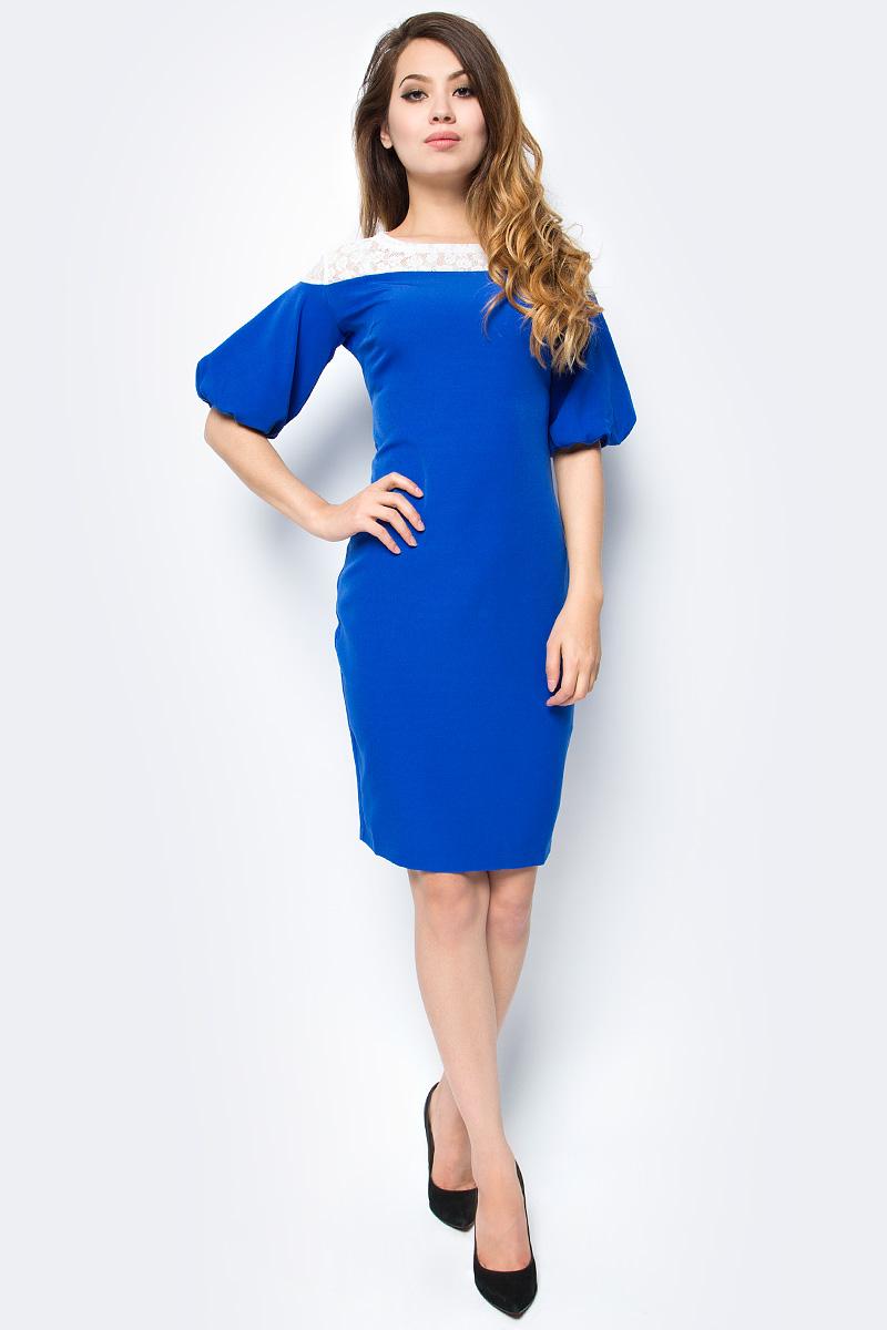 Платье женское La Via Estelar, цвет: васильковый. 13124-1. Размер 4413124-1