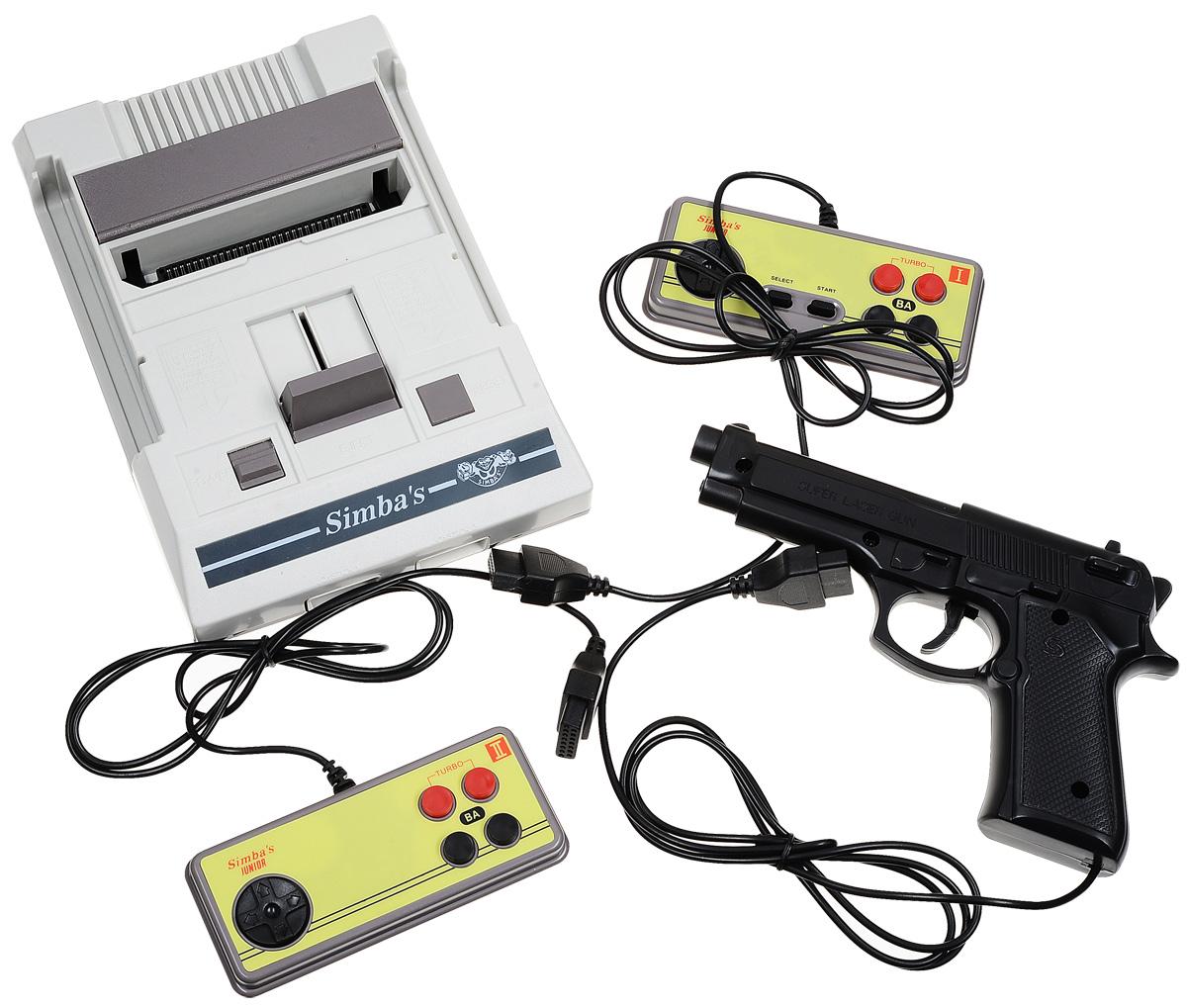 Simba's Junior игровая приставка + картридж на 9999999 игр игровая приставка pgp aio creative 2 8 touch 100 игр синий оранжевый