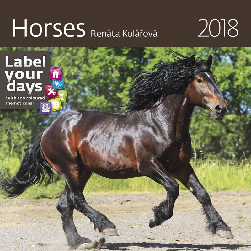 Календарь 2018 (на спирали). Horses (+ наклейки) календарь на 2017 год на спирали retro nostalgia ретро 450 315мм