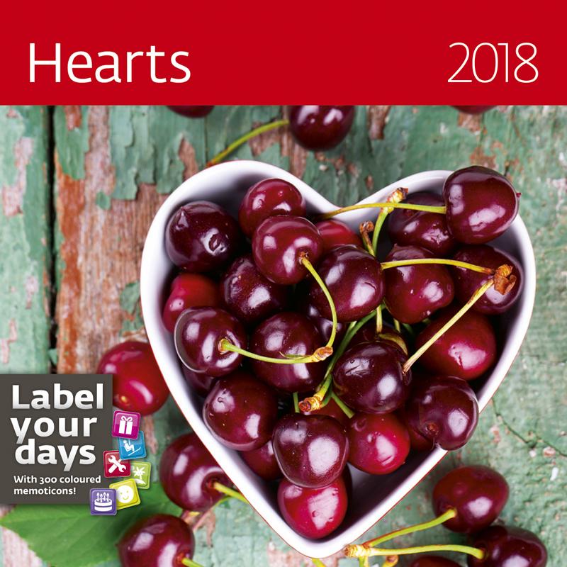 Календарь 2018 (на спирали). Hearts (+ наклейки) альфонс муха календарь настенный на 2018 год эксмо