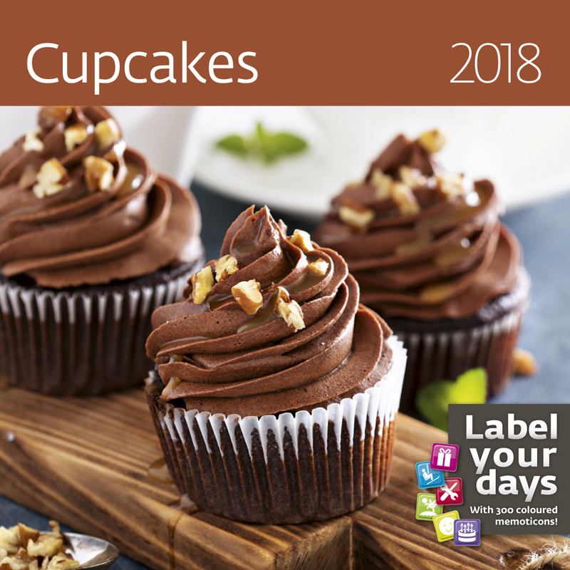 Календарь 2018 (на спирали). Cupcakes (+ наклейки) календарь на 2017 год на спирали retro nostalgia ретро 450 315мм