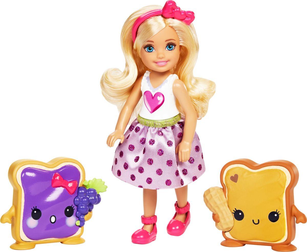 Barbie Кукла Челси и сладости цвет платья белый розовый mattel кукла челси barbie