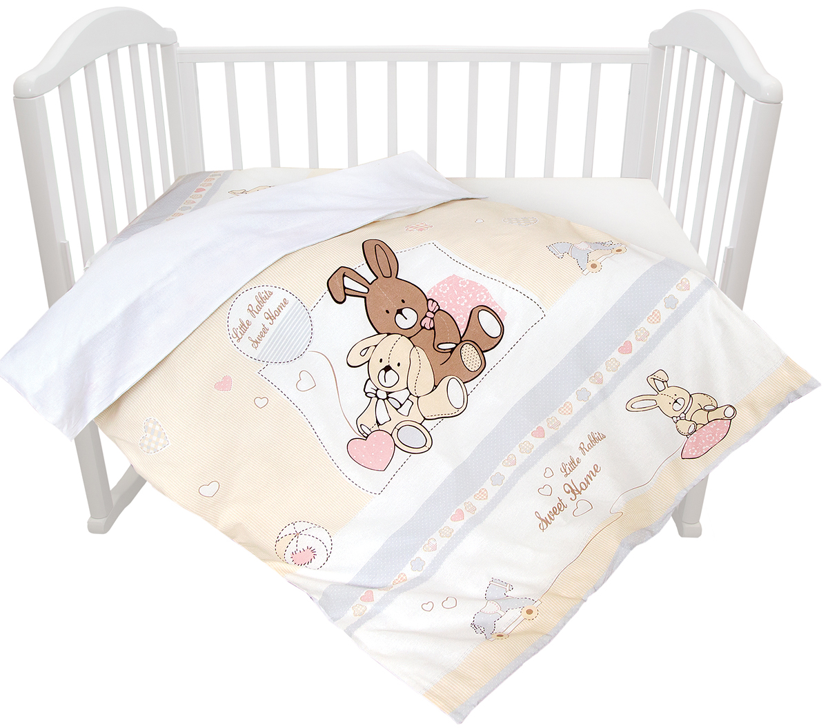 Baby Nice Комплект постельного белья детский Милый дом цвет бежевый