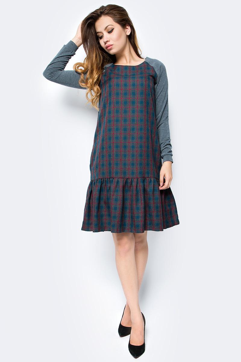Платье женское La Via Estelar, цвет: синий. 14007-3. Размер 42