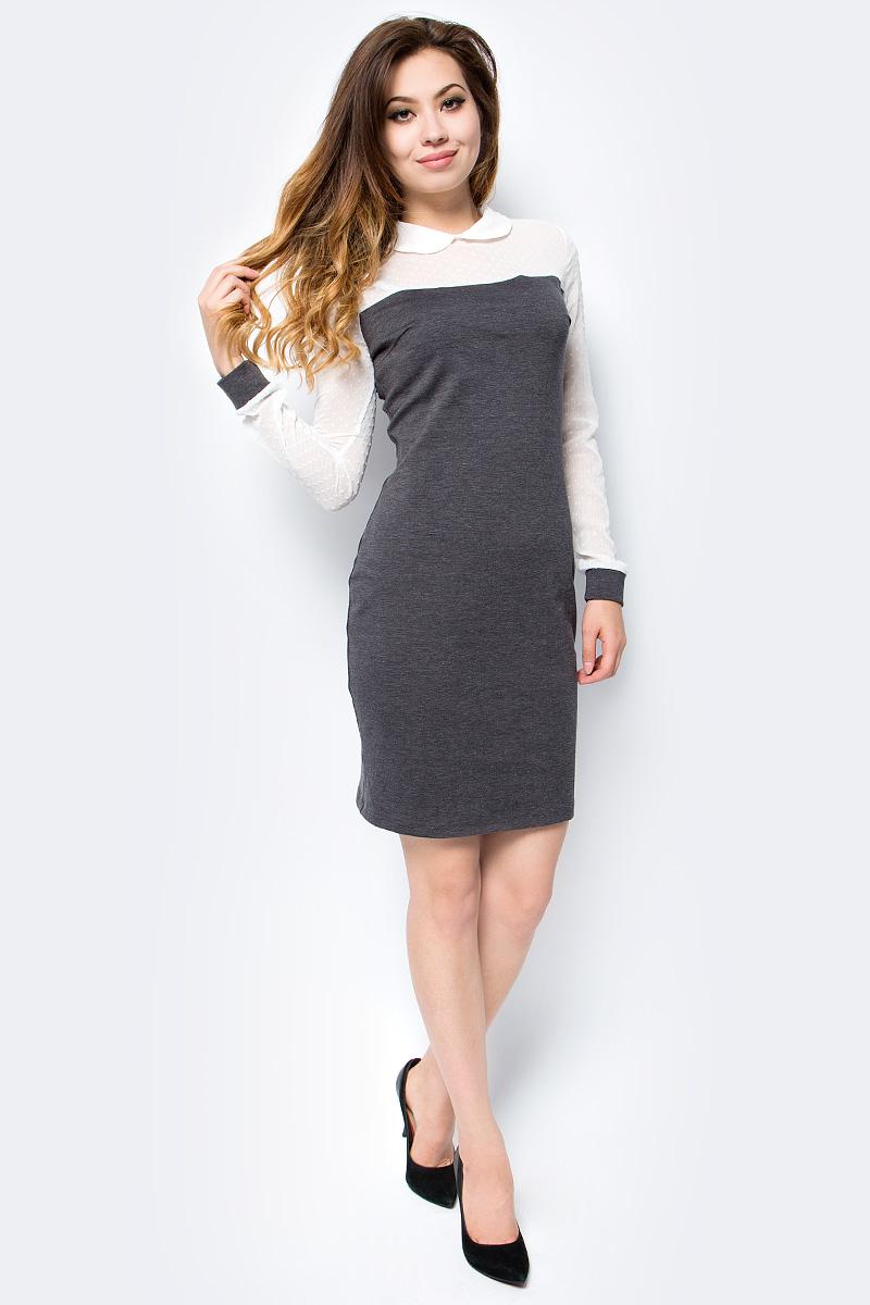 Платье женское La Via Estelar, цвет: серый. 14006-2. Размер 5214006-2
