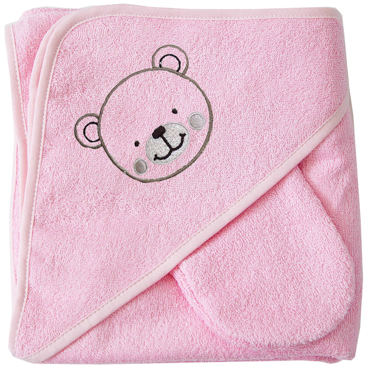 Baby Nice Полотенце детское Уголок цвет розовый -  Все для купания