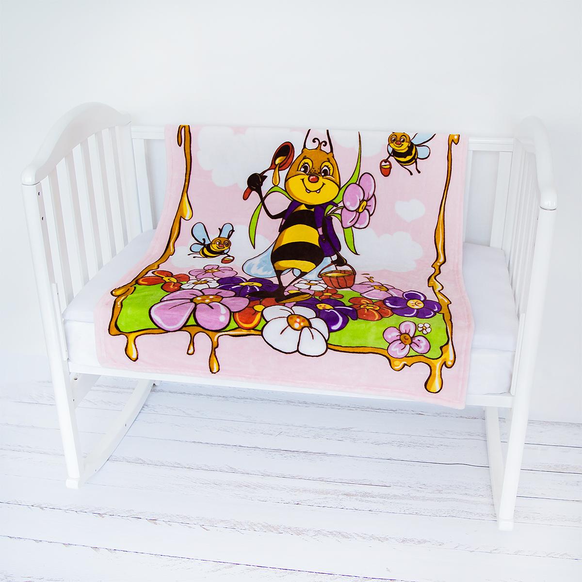 Baby Nice Плед-покрывало детский Micro Flannel Пчелы цвет розовыйV251284Нежные, очень комфортные к телу пледы-покрывала Micro Flannel детские - из нового необыкновенно мягкого и уютного, бархатистого, как плюшевая игрушка, материала - легкая воздухопроницаемая ткань, обладающая влагорегулирующими и терморегулирующими свойствами. Micro Flannel поддерживает температурный баланс, надежно сохраняет тепло, не раздражает кожу, является гипоаллергенным. Этот материал, достаточно новый для России, благодаря своему высокому качеству и необыкновенным потребительским свойствам, успел завоевать заслуженное признание за рубежом, особенно в Европе; обладает антипиллинговым свойством, не впитывает запахи, легок в стирке, не усаживается, быстро сохнет. Гипоаллергенными красителями нанесены эксклюзивные рисунки 3D.