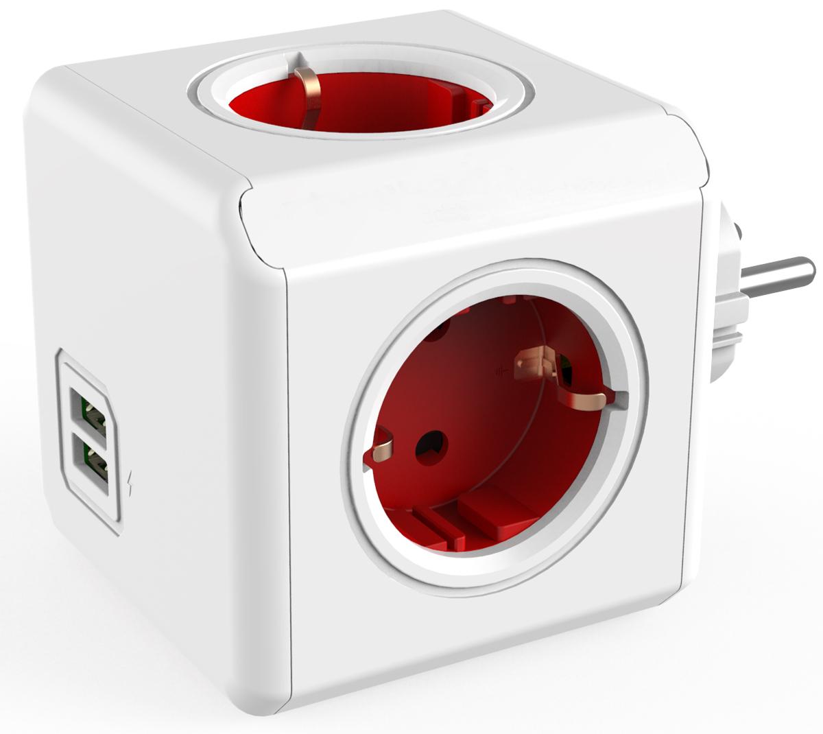 Allocacoc Original USB, Red сетевой разветвитель1202RD/DEOUPCРазветвитель Allocacoc Original USB содержит USB-порт, что позволяет заряжать широкий спектр устройств.Находясь в офисе, дома, на совещании или еще где-нибудь, бывает трудно найти свободную розетку для зарядки ноутбука или мобильного телефона. Allocacoc Original USB решил эту проблему: количество розеток можно расширить, что позволит монтировать индивидуальный источник питания в пределах досягаемости.