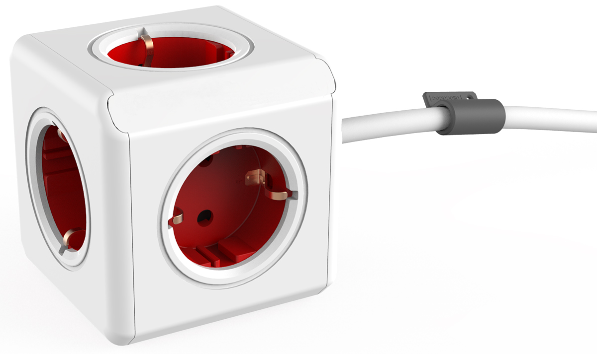 Allocacoc Extended, Red сетевой разветвитель - Сетевые фильтры, тройники и удлинители
