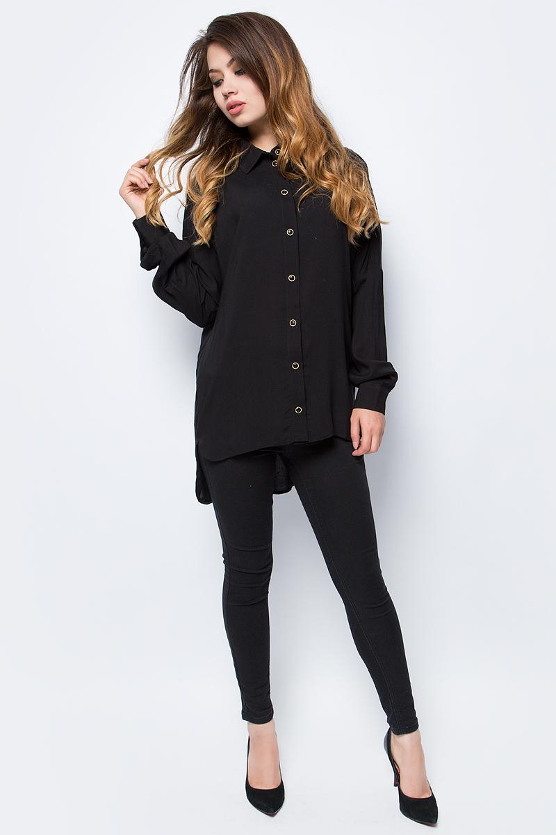 Блузка женская La Via Estelar, цвет: черный. 33948-1. Размер 4633948-1