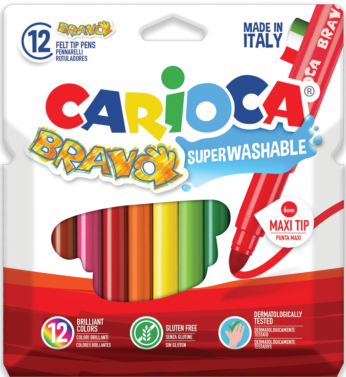 Carioca Набор фломастеров Bravo 12 цветов -  Фломастеры