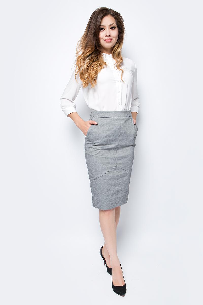 Юбка женская La Via Estelar, цвет: серый. 90500. Размер 4890500