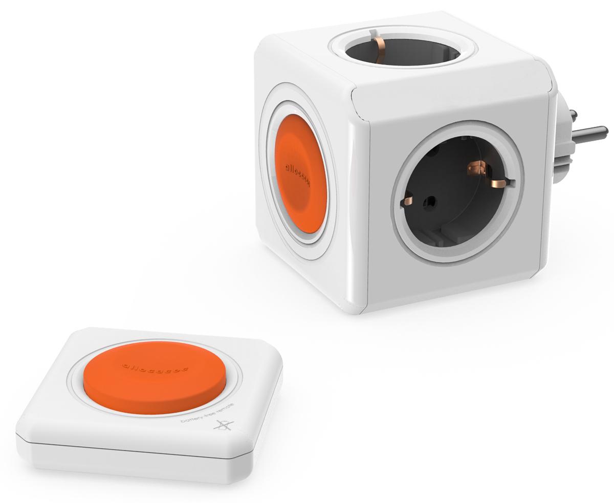 Allocacoc Original Remote Set, White сетевой разветвитель и кнопка удлинитель allocacoc extended remote 1 5m black 1513bk euexrm