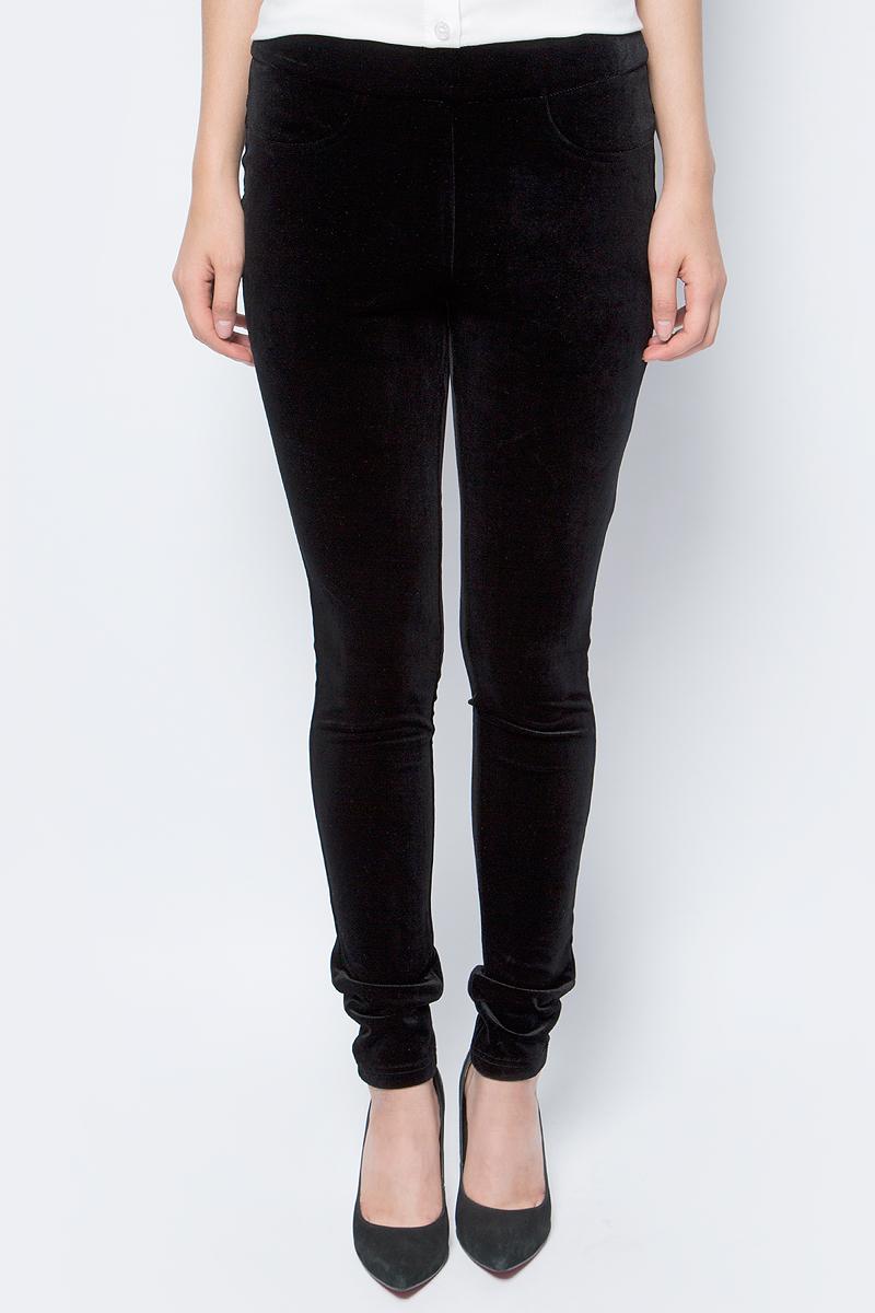 Брюки женские La Via Estelar, цвет: черный. 60570-1. Размер 4660570-1Стильные женские брюки La Via Estelar - брюки высочайшего качества, которые прекрасно сидят. Модель изготовлена из эластичного полиэстера с бархатной фактурой. Брюки на мягком эластичном поясе стандартной посадки. Эти модные и в тоже время комфортные брюки послужат отличным дополнением к вашему гардеробу. В них вы всегда будете чувствовать себя уютно и комфортно.
