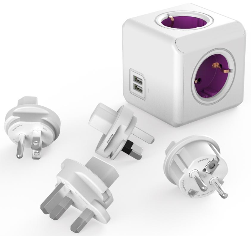 Allocacoc ReWirable USB, White сетевой разветвитель1810/DERU4PДля использования как в поездке так и дома. Универсальный разъем для вилок. Allocacoc ReWirable USB снабжен используемым во всем мире разъемом IEC (ограниченным до 10A). Вы можете использовать IEC кабель от старой техники, таким образом превращая его в удлинитель.Напряжение-100-250 В; МАХ 6 АМаксимальное напряжение-1500 ВКоличество розеток-5Предохранитель-сменныйТипы розеток-C, FШтепсели в комплекте-DE/FR, UK, USA, AU.