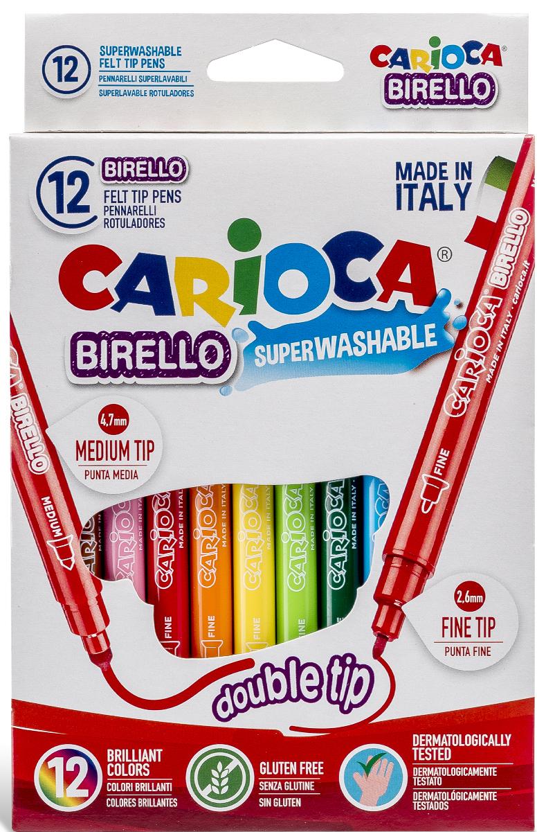 Набор двусторонних фломастеров Birello, 12 цветов41457/12 От производителяДвусторонние фломастерыBirello отлично подойдут и для школьных занятий, и просто для рисования. Они позволяют рисовать линии разной толщины - 5 мм и 2,5 мм.В набор входит 12 разноцветных фломастеров. Чернила фломастеров изготовлены по специальной технологии, обладают великолепными яркими, выразительными цветами, легко смываются с рук и с большинства тканей. Характеристики: Длина фломастера: 14,5 см. Размер упаковки:12,5 см х 20 см х 1 см.