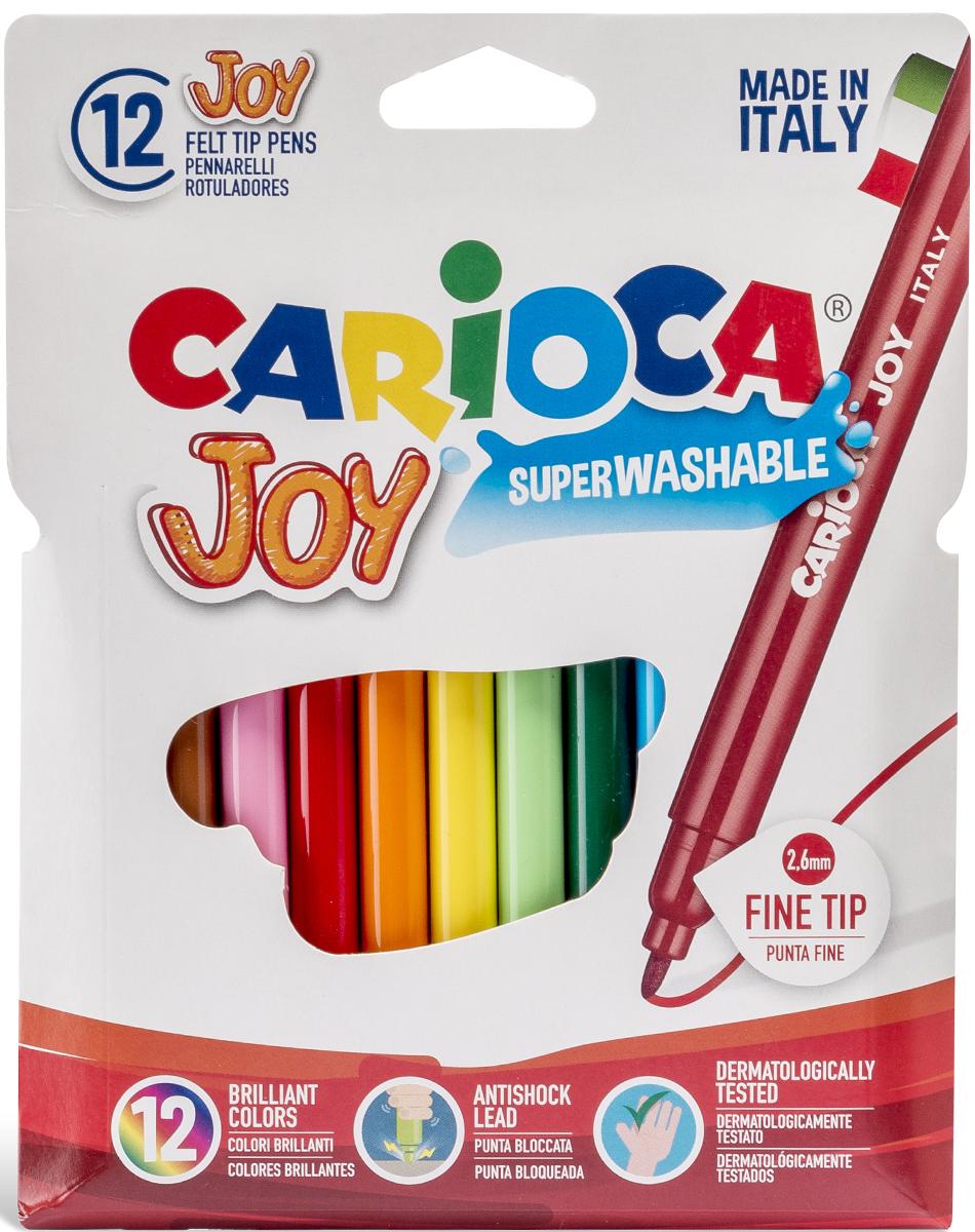 Набор суперсмываемых фломастеров Carioca, 12 цветов40531/12От производителяНабор Carioca Joy состоит из 12 разноцветных фломастеров, которые отлично подойдут и для школьных занятий, и просто для рисования. Фломастеры рисуют яркими насыщенными цветами. Чернила на водной основе легко смываются с кожи и отстирываются с большинства тканей. Корпус фломастеров изготовлен из полипропилена, а колпачок имеет специальные прорези, что обеспечивает вентилирование и еще больше увеличивает срок службы чернил и предотвращает их преждевременное высыхание. Характеристики: Длина фломастера: 14 см. Размер упаковки:13,5 см х 18 см х 1 см.