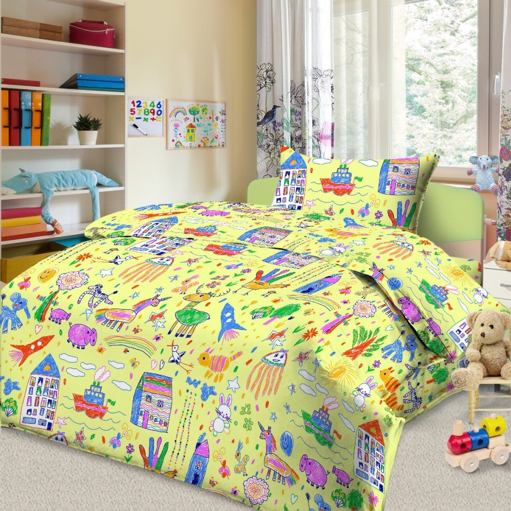 Letto Комплект в кроватку Ясли 3 предмета BG-39 -  Постельное белье