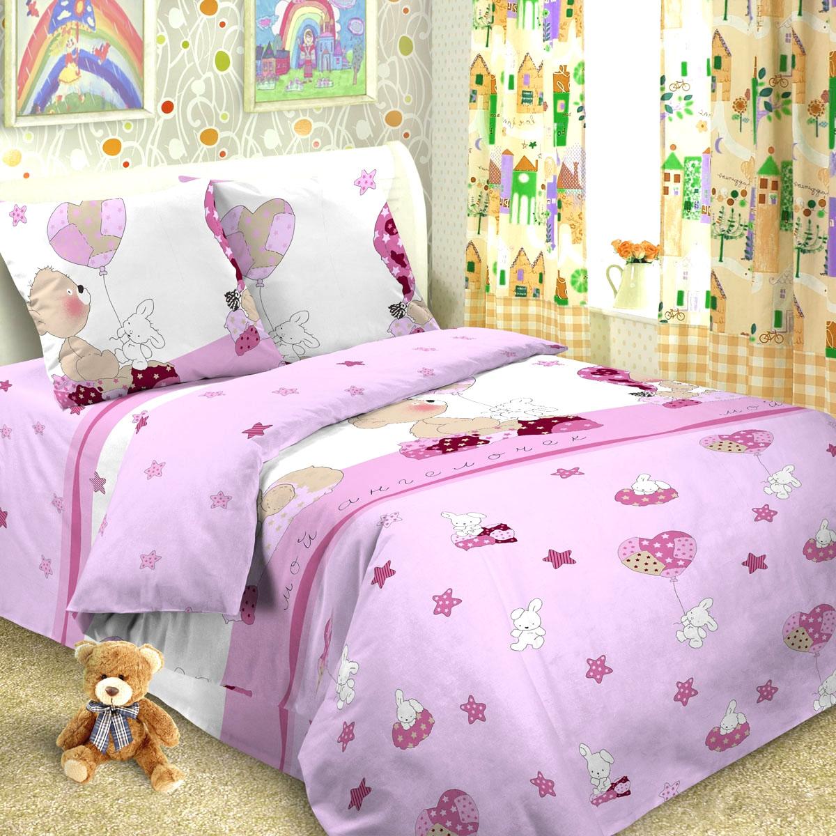 Letto Комплект в кроватку Ясли с простыней на резинке BGR-37 -  Постельное белье