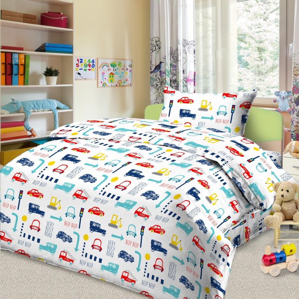 Letto Комплект в кроватку Ясли с простыней на резинке BGR-44 -  Постельное белье