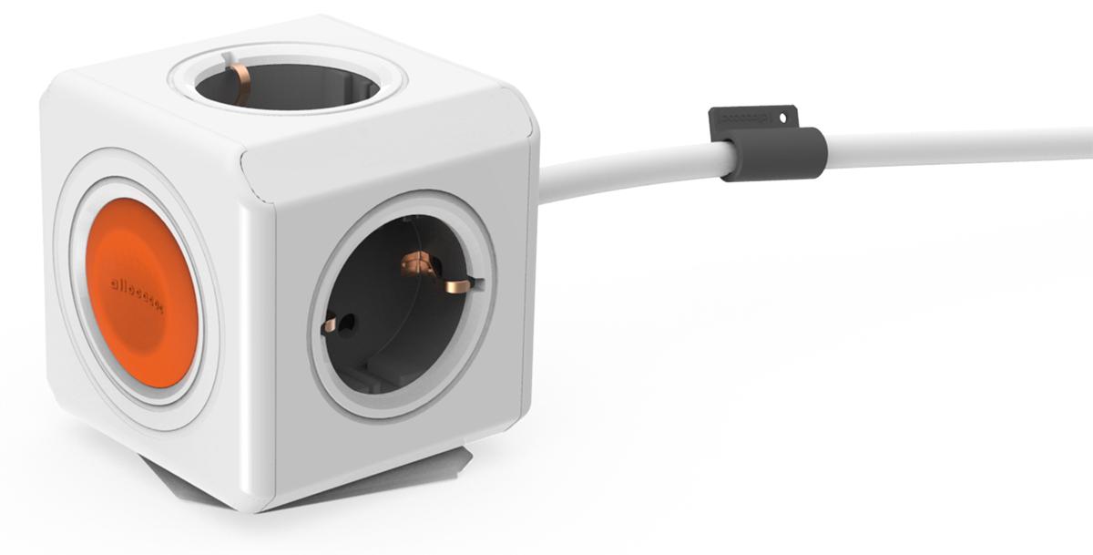 Allocacoc Extended Remote, White сетевой удлинитель (1.5 м) цена