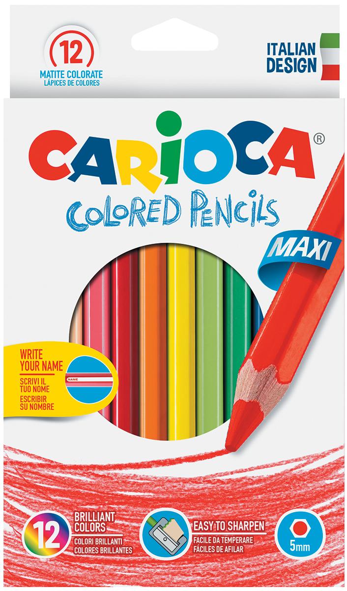 Carioca Набор цветных карандашей Jumbo с точилкой 12 цветов erichkrause двухцветные треугольные карандаши jumbo c точилкой
