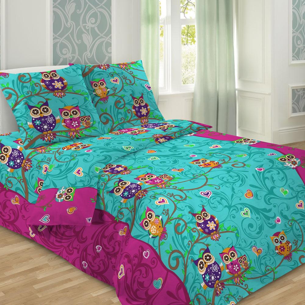 Комплект детского постельного белья Letto  Сова , 1,5 спальный, наволочка 50 x 70 см, цвет: желтый -  Постельное белье