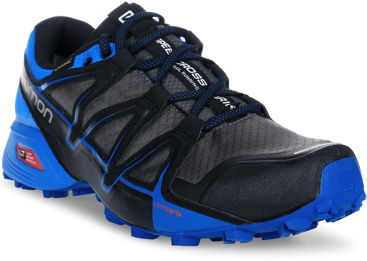 Кроссовки для бега мужские Salomon Speedcross Vario 2 GTX , цвет: серый, синий. L39971500. Размер 11 (44,5)L39971500SPEEDCROSS VARIO 2 GTX — это настоящий монстр на тропе, которого вам, возможно, удастся приручить. Созданные на базе легендарной модели Speedcross, кроссовки Vario имеют менее агрессивный рисунок протектора, классическую шнуровку и полную защиту с мембраной GORE-TEX, которая дарит комфорт в любую погоду в любое время года.