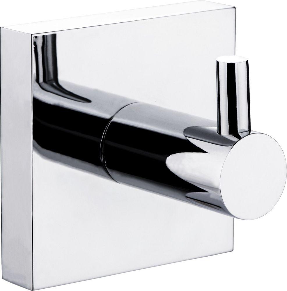 Крючок для ванной Milardo Amur, одинарный, цвет: серый металлик бумагодержатель с крышкой milardo amur amusmc0m43