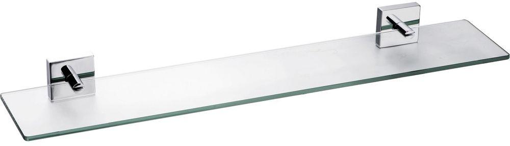 Полка для ванной комнаты Milardo Amur, стекляннаяAMUSMG0M44Полка Amur выполнена из прочного сплава металлов со стойким никель-хромовым покрытием и закаленного стекла, устойчивого к нагрузке и повреждениям.