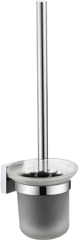 Ерш настенный Milardo AmurAMUSMG0M47Ершик туалетный Amur выполнен из высококачественной латуни и матового стекла, имеет стойкое никель-хромовое покрытие, пластиковая проставка надежно фиксирует колбу дозатора в держателе. Крепеж в комплекте.