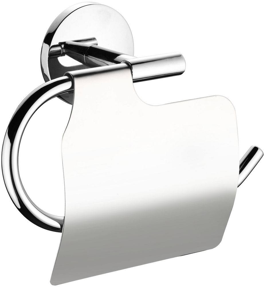 """Держатель туалетной бумаги """"Cadiss"""" выполнен из прочного сплава металлов и имеет стойкое никель-хромовое покрытие. Крепеж в комплекте. Уважаемые клиенты! Обращаем ваше внимание на то, что расстояние между отверстиями при монтаже держателя - от 1,5 до 2,5 см. С учетом диаметра прилегающей к стене детали, дополнительные отверстия заметны не будут."""