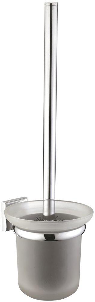 Ерш настенный Milardo LabradorLABSMG0M47Ершик туалетный Labrador выполнен из высококачественной латуни и матового стекла, имеет стойкое никель-хромовое покрытие, пластиковая проставка надежно фиксирует колбу дозатора в держателе. Крепеж в комплекте.