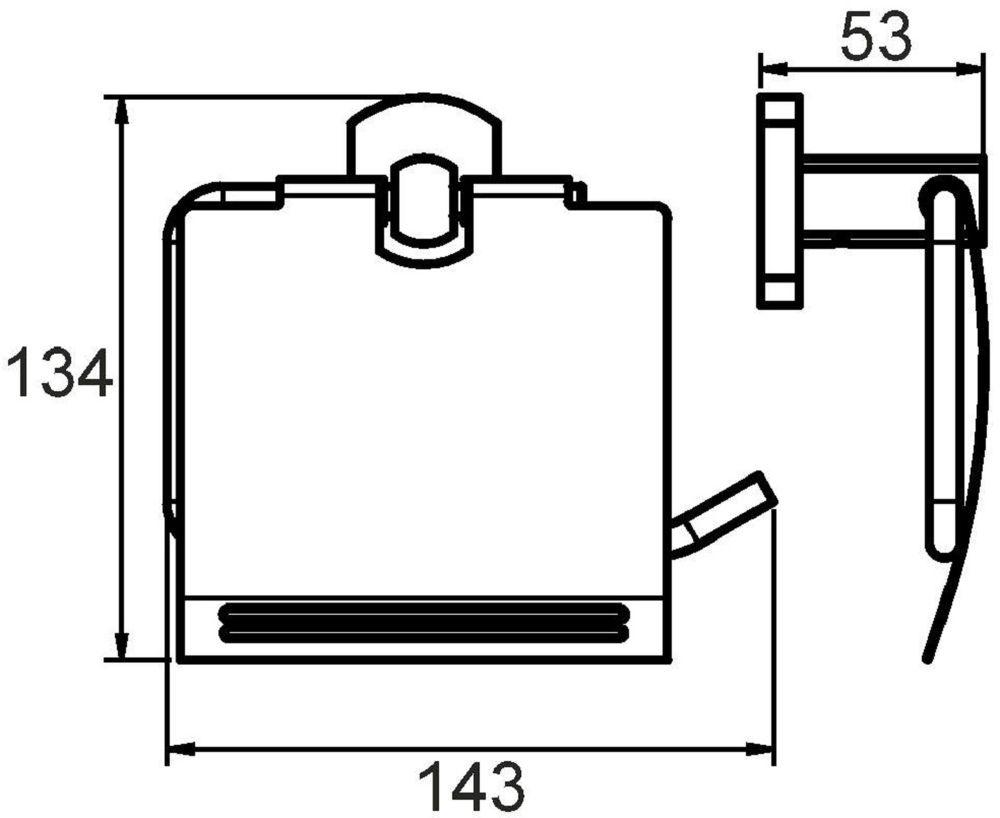 """Стильный держатель туалетной бумаги Milardo """"Neva"""" выполнен из прочного сплава металлов и имеет стойкое никель-хромовое покрытие. Крепеж в комплекте."""
