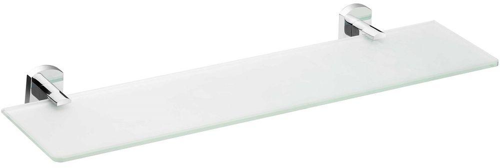 Полка для ванной комнаты Milardo Neva, стекляннаяNEVSMG0M44Полка Neva выполнена из прочного сплава металлов со стойким никель-хромовым покрытием и закаленного стекла, устойчивого к нагрузке и повреждениям.