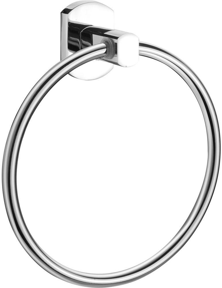 Полотенцедержатель кольцо Milardo NevaNEVSML0M52Держатель для полотенца Neva изготовлен из прочного сплава металлов и имеет стойкое никель-хромовое покрытие, крепеж в комплекте.