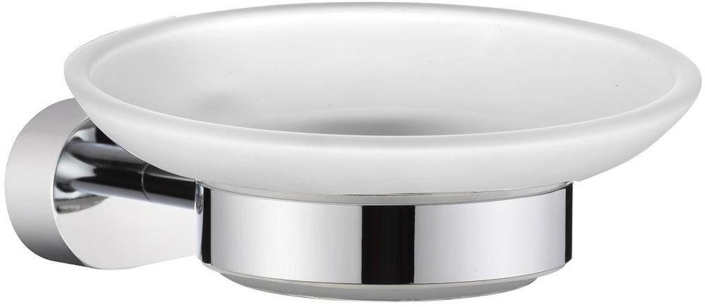 """Мыльница настенная Milardo """"Solomon"""" благодаря своему оригинальному дизайну станет стильным аксессуаром, который украсит интерьер вашей ванной комнаты. Держатель мыльницы """"Solomon"""" выполнен из прочного сплава металлов, имеет стойкое никель-хромовое покрытие, уплотнительная прокладка надежно фиксирует мыльницу в держателе. В комплекте удобный и надежный крепеж."""