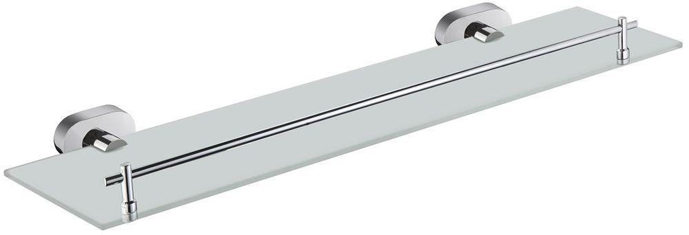 Полка для ванной комнаты Milardo Solomon, стекляннаяSOLSMG0M44Полка Milardo Solomon выполнена из прочного сплава металлов со стойким никель-хромовым покрытием и закаленного стекла, устойчивого к нагрузке и повреждениям. Она пригодится для хранения различных принадлежностей, которые всегда будут под рукой. Благодаря компактным размерам полка впишется в интерьер ванной комнаты и позволит удобно и практично хранить предметы личной гигиены.