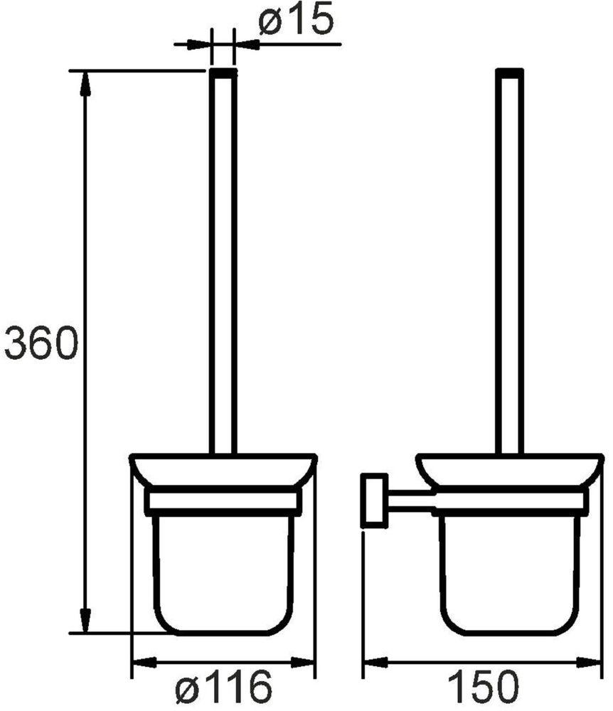 """Ершик туалетный """"Solomon"""" выполнен из высококачественной латуни и матового стекла, имеет стойкое никель-хромовое покрытие, пластиковая проставка надежно фиксирует колбу дозатора в держателе. Крепеж в комплекте."""
