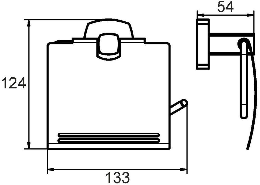 """Держатель туалетной бумаги """"Volga"""" выполнен из прочного сплава металлов и имеет стойкое  никель-хромовое покрытие.  Держатель поможет оформить интерьер в выбранном стиле, разбавляя пространство туалетной  комнаты различными элементами. Он хорошо впишется в любой интерьер, придавая ему черты  современности.  Крепеж в комплекте."""