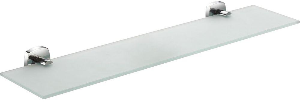Полка для ванной комнаты Milardo Volga, стекляннаяVOLSMG0M44Полка Milardo Volga выполнена из прочного сплава металлов со стойким никель-хромовым покрытием и закаленного стекла, устойчивого к нагрузке и повреждениям.Высота: 4,7 см.Ширина: 52 см.