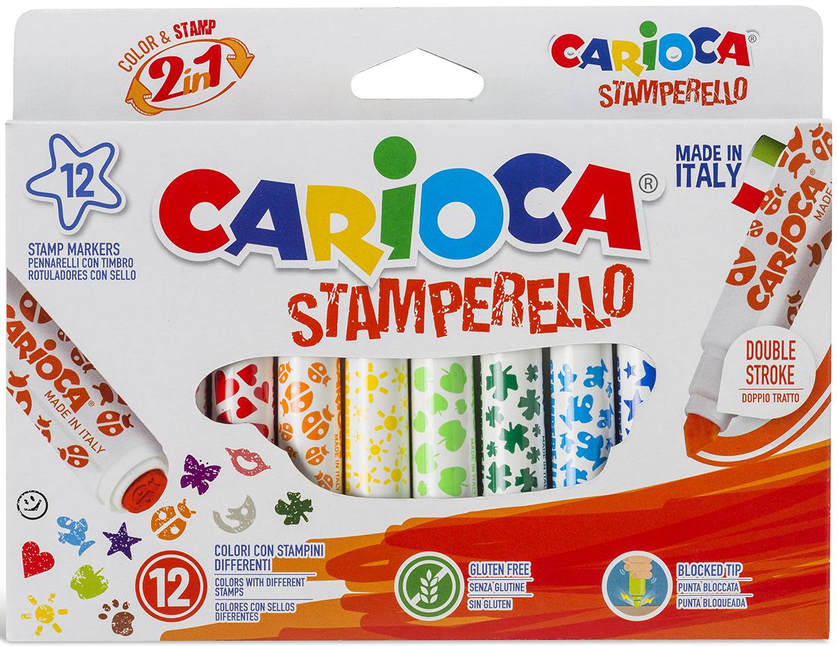 """Набор для рисования """"Carioca (Кариока) Stamp Markers"""", 12 цветов, Universal"""