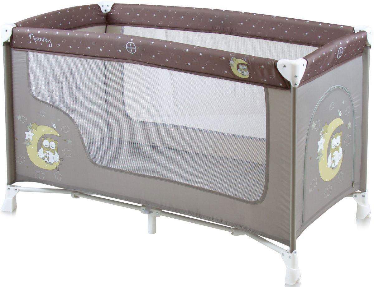 Lorelli Манеж-кроватка Nanny 1 цвет серый стульчики для кормления lorelli стульчик для кормления lorelli candy