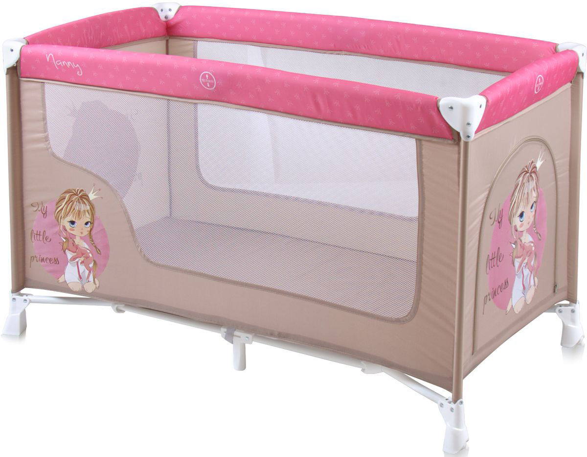 Lorelli Манеж-кроватка Nanny 1 цвет бежевый розовый -  Детская комната